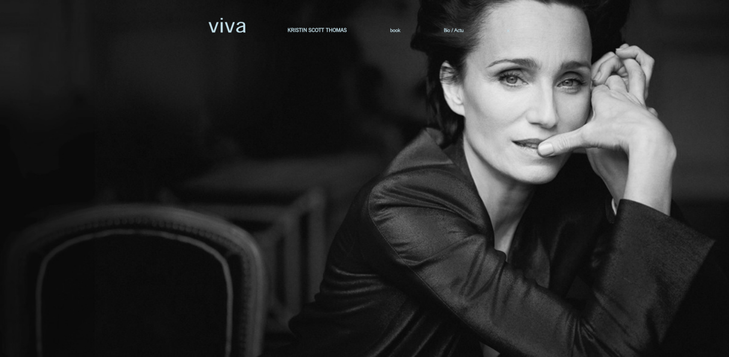 Booker client: VIVA - Models - Talent - Kristin Scott Thomas (web page)