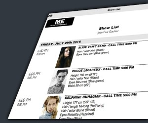 Booker - email-PDF notify models and clients about SHOWS - booking system